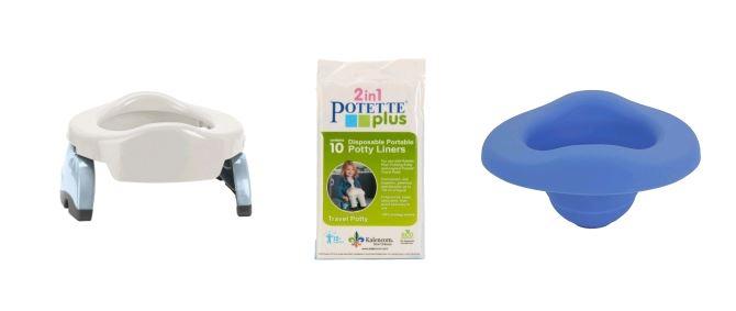 POTETTE PLUS® 2v1-cestovní nočník bílý + vložka + sáčky 09edd621893