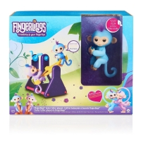 Original WowWee®-Fingerlings® Set 2 opičky a houpačka